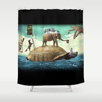 dali Shower Curtains featuring Dali  by Veronika