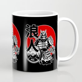 Skeleton Samurai Warrior with Ronin Japanese Lettering Coffee Mug