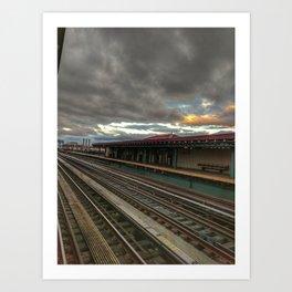 NY Tracks Art Print