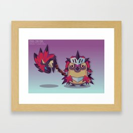 Pixel the Monster Hunting Pug Framed Art Print