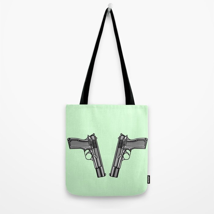 Hip Tattoo Pistols Tote Bag