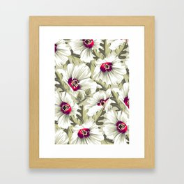 New Zealand Hibiscus Floral Print (Day) Framed Art Print