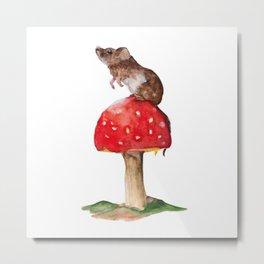 Mushroom mouse Metal Print