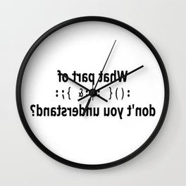 noses run in our family Wall Clock