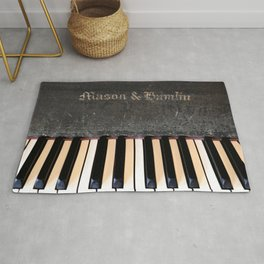 Antique Mason & Hamlin Piano Rug
