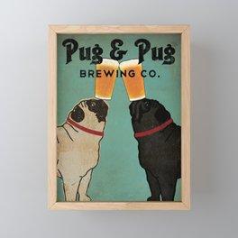 Pug & Pug Brewing Co. Framed Mini Art Print