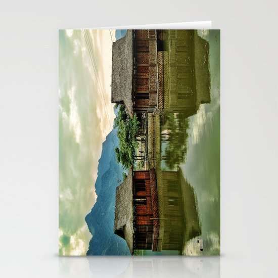 Water Huts Stationery Cards