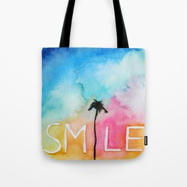 Palm tree Smile IN watercolor Tote Bag