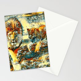 AnimalArt_Lion_20171017_by_JAMColors Stationery Cards