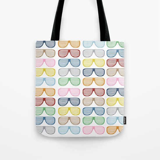 Rainbow Shutter Shades Tote Bag
