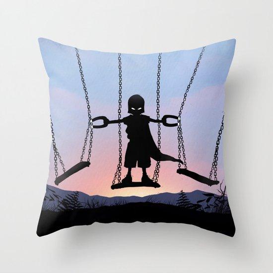 Magneto Kid Throw Pillow