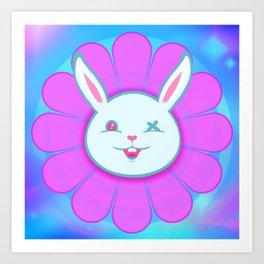 Ouch Bunny Flower Power! Art Print