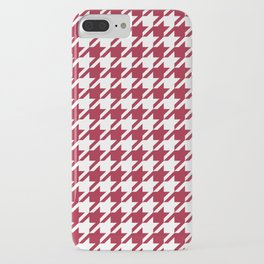 Bama crimson tide college state pattern print university of alabama varsity alumni gifts houndstooth iPhone Case