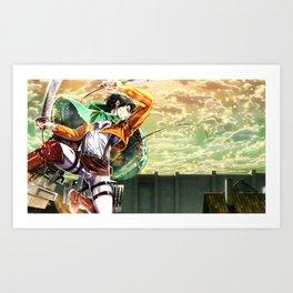 Captain Levi Attack on Titan Shingek Art Print