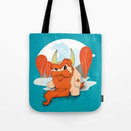Graggy, the plump Happy Chaos Monster of Scotland Tote Bag