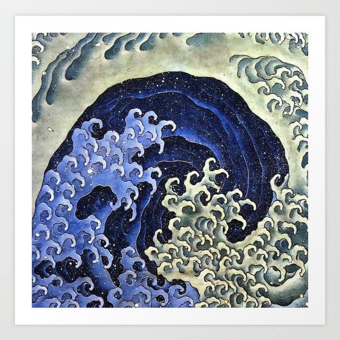 Hokusai Feminine Wave Japanese Vintage Fine Art Kunstdrucke