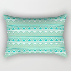 Green and Blue Rectangular Pillow