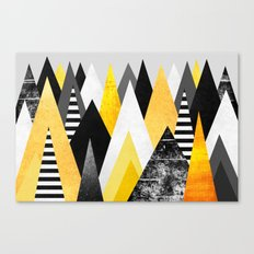 Yellow Peaks Canvas Print