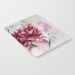 Peonies and Daisies Notebook