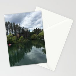 Serene Montana River Stationery Cards