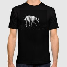 silver shadow Black SMALL Mens Fitted Tee