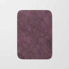 Royal Maroon Silk Moire Pattern Bath Mat