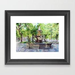 Old Fountain at Split, Croatia Framed Art Print