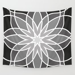 Shades of Grey | Geometric Pattern Wall Tapestry