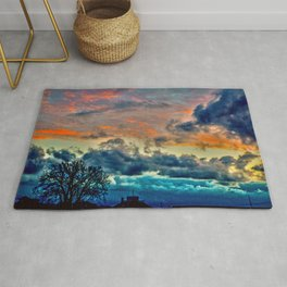 Sunset and Storm Rug