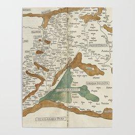 Vintage Map of Mesopotamia (1482) Poster