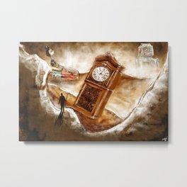 The Time Traveler | Conceptual Environmental Landscape Metal Print