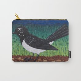 Willy Wagtail on the garden path Carry-All Pouch