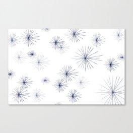 burst navy Canvas Print