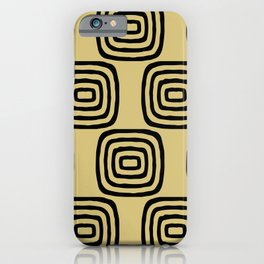 Mid Century Modern Concentric Pattern 253 iPhone Case