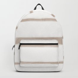 Skinny Strokes Gapped Horizontal Nude on Off White Backpack