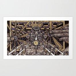 Raw Data (Still Frame 3) Art Print
