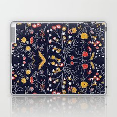 Flowers Pattern Dark Laptop & iPad Skin