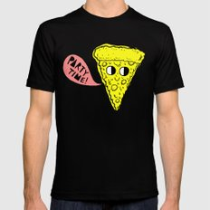 Party Time Pizza Black MEDIUM Mens Fitted Tee