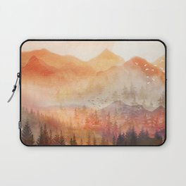 Forest Shrouded in Morning Mist Laptop Sleeve