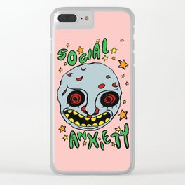 social anxiety Clear iPhone Case