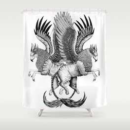 Griffin Sisters not Twins Series Shower Curtain