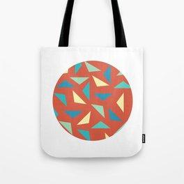 circular triangular Tote Bag