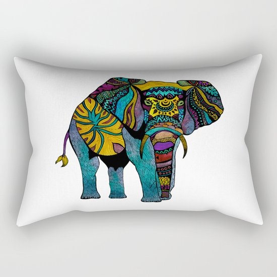 Elephant of Namibia Rectangular Pillow