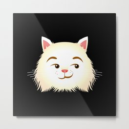 Smirking Cat Metal Print