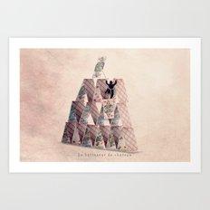 The castle builder Art Print