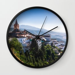 Stunning mountain village of Zahara de la Sierra in Spain Wall Clock