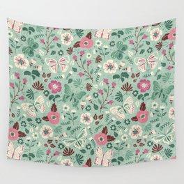 Garden Butterflies Wall Tapestry
