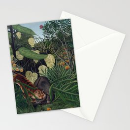 Fight between a Tiger and a Buffalo (1908) by Henri Rousseau Stationery Cards