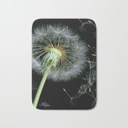 Dandelion Seeds Blowing in the Wind, Scanography Bath Mat