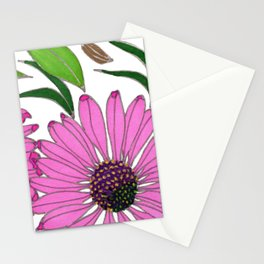 Echinacea by Mali Vargas Stationery Cards